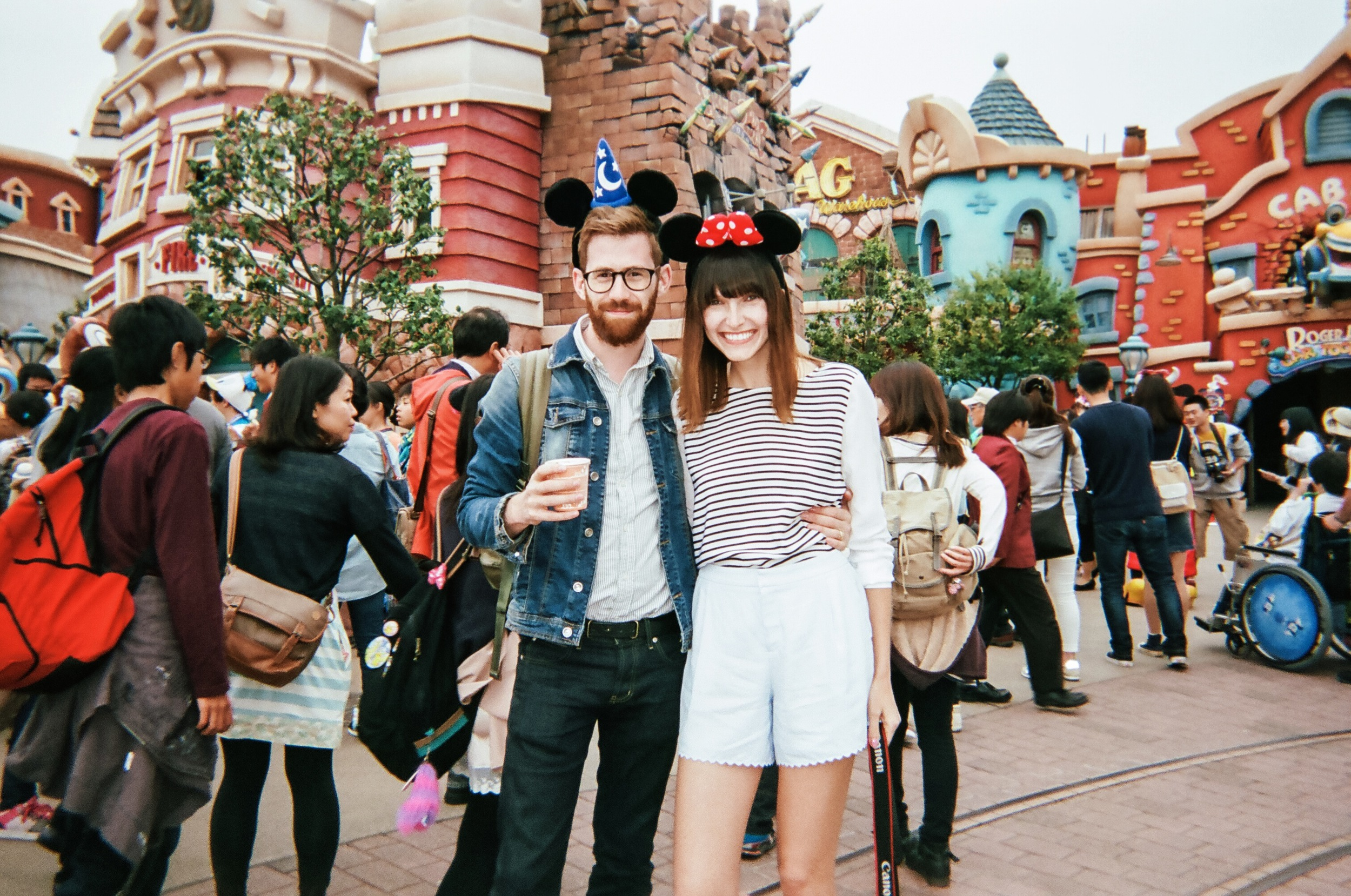 Here we are in Toontown, in Disneyland Tokyo