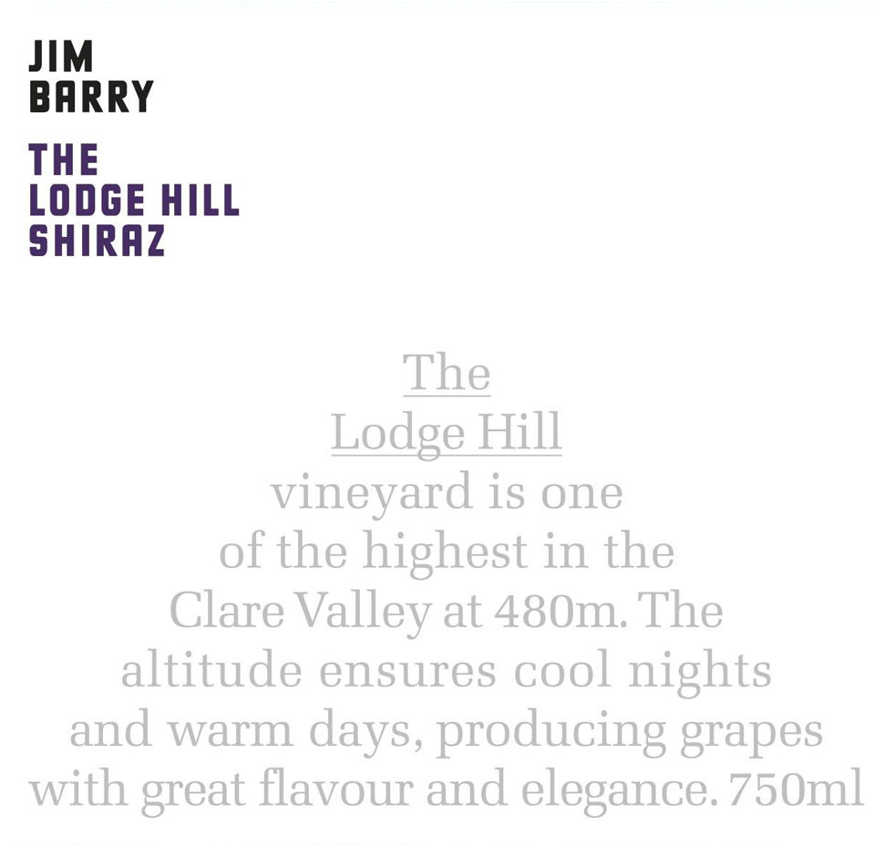 jim barry lodge hill shiraz label.png