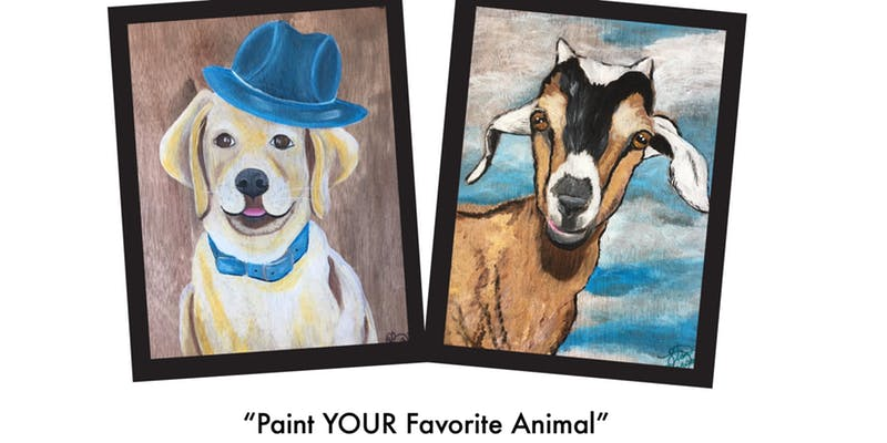 "Class: Le Paint  Dip, Dap, Drink! ""Paint Your Favorite Animal""  Join us for a fun evening creating your own piece of art!   Sign up here"