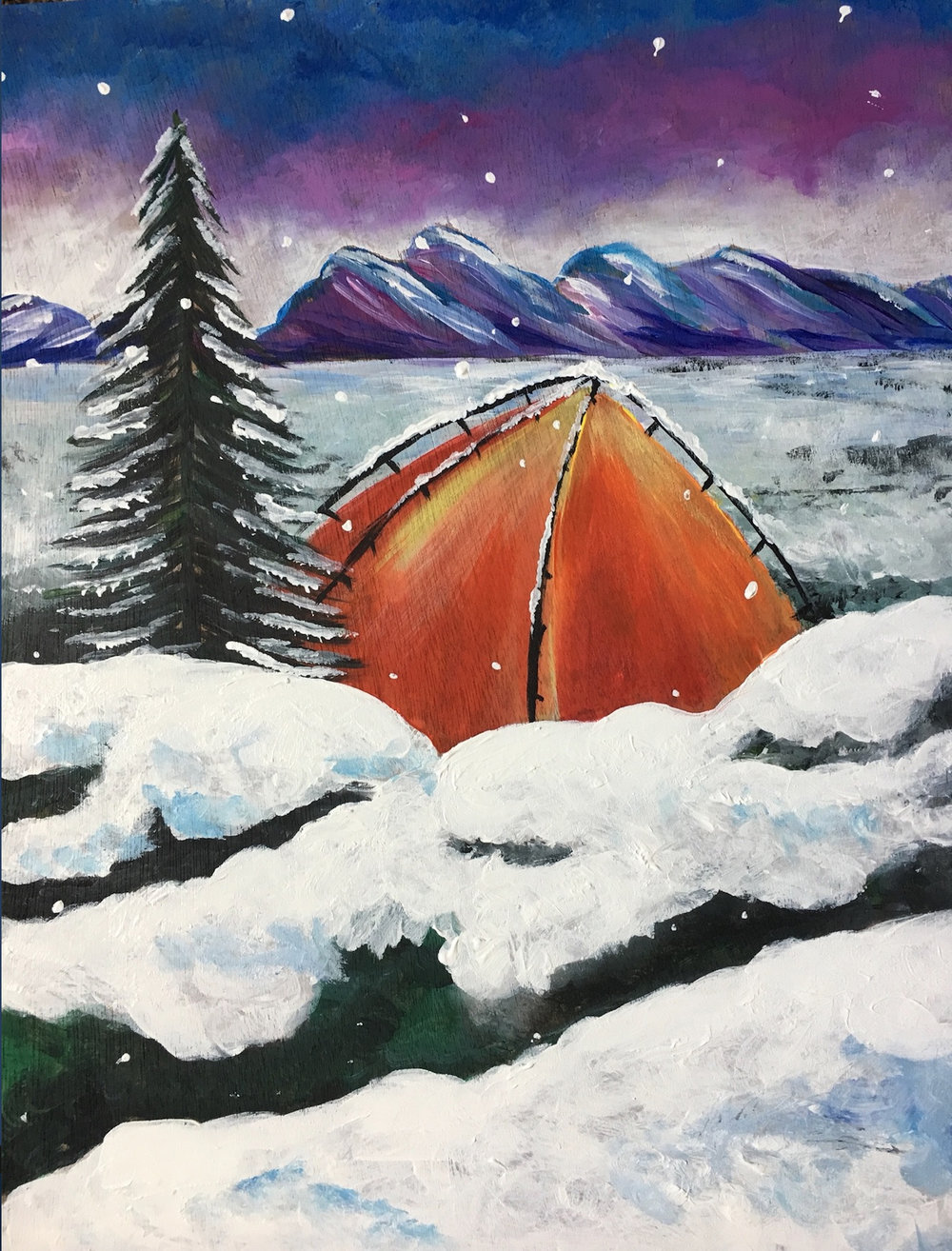 Class: Le Paint Dip, Dab, Drink!   Winter Camp   Sign up here