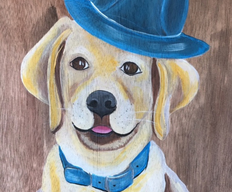 Class: Le Paint - Dip, Dab, Drink!   Paint Your Pet   Sign up here
