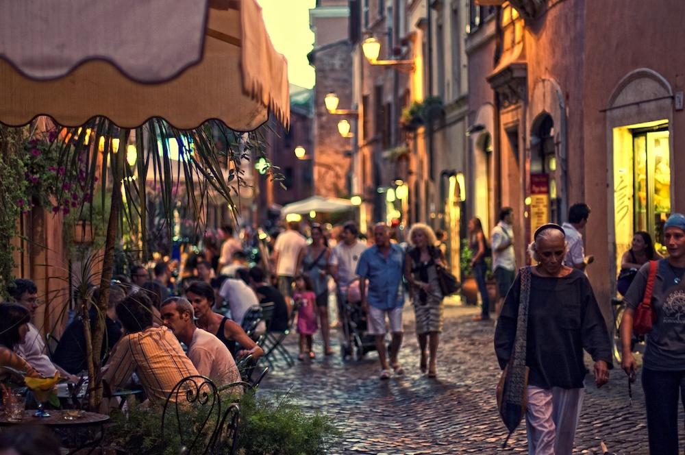 Rua de Trastevere - Foto: Michiel Jelijs