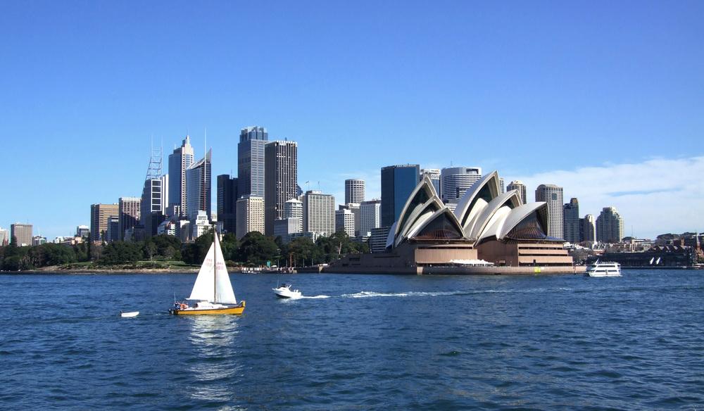 Vista do centro de Sydney, com destaque à Opera House