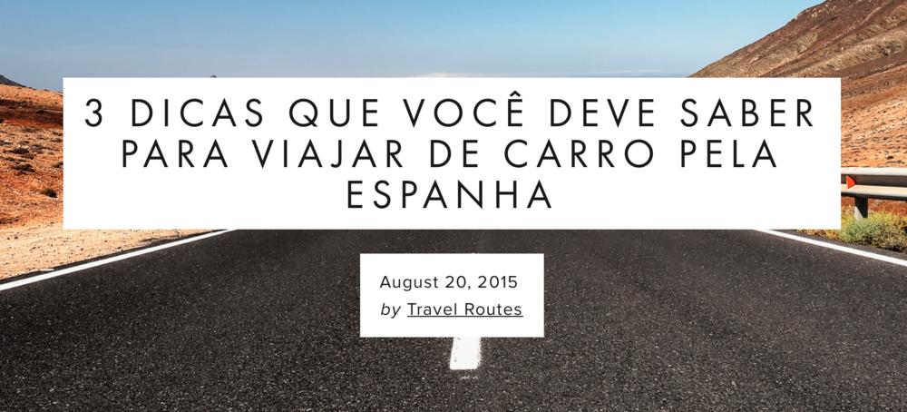 Vai viajar de carro pela Espanha? Então não deixe de conferir essas dicas.. Leia mais!