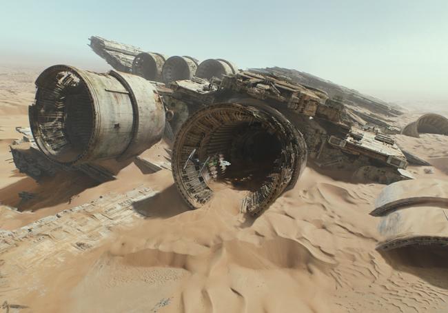 Possivelmente a carcaça do Star Destroyer nao estará lá.