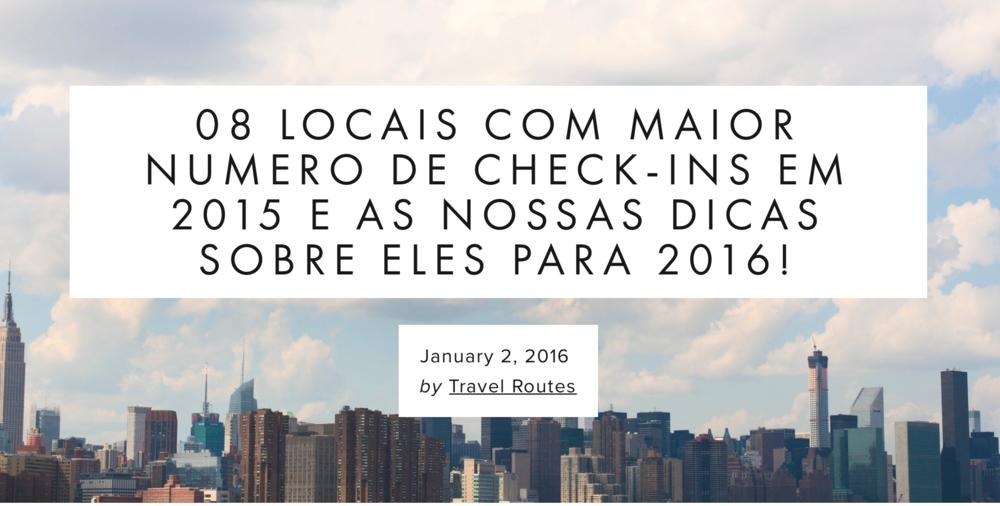 Já está programando suas viagens para 2016? Então não perca esse post! Leia mais....
