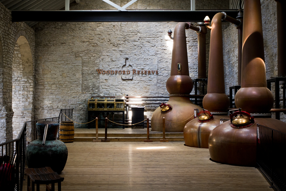 Interior da destilaria Woodford Reserve