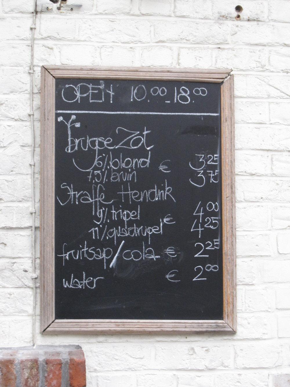 cardapio cervejas belgas