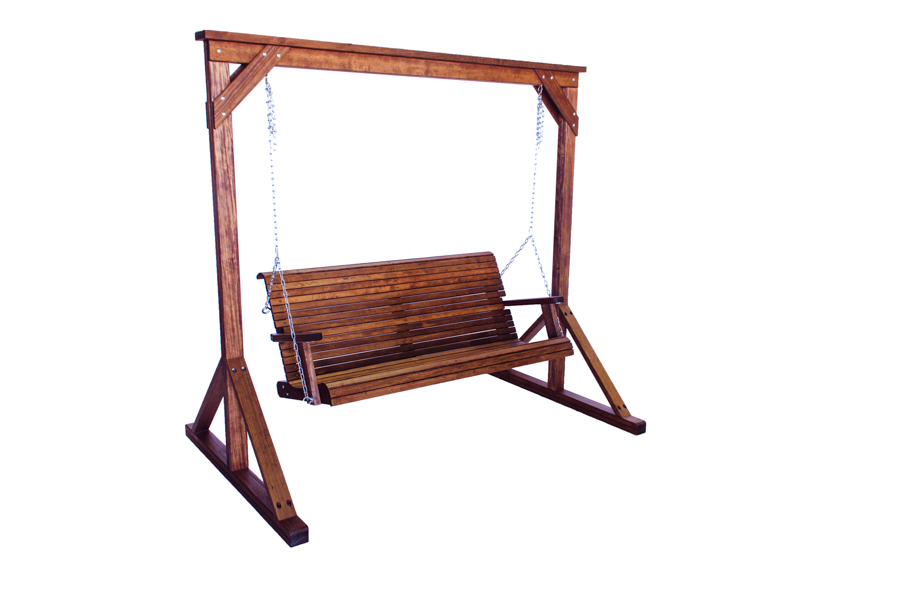 "Swing Frame (shown with Lowback 5' Swing)  88"" W X 54"" D X 79"" H"