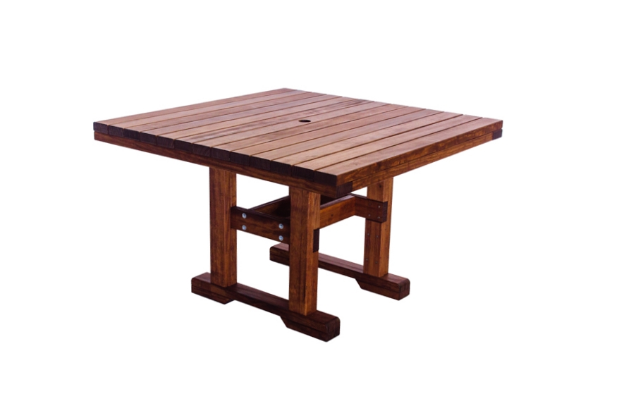 "Square 44x44 Table, Dining Height  43 3/4"" W X 43 3/4"" D X 28 3/4"" H"