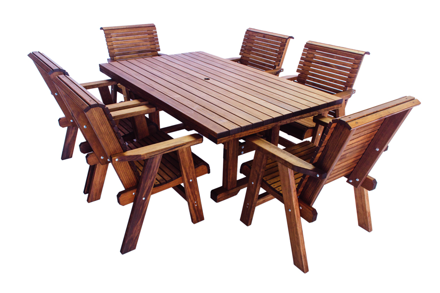 "Rectangle 44 x 71 Table, Dining Height   43 3/4"" W x 71"" D x 28 3/4"" H (Shown With Lowback Chairs)"