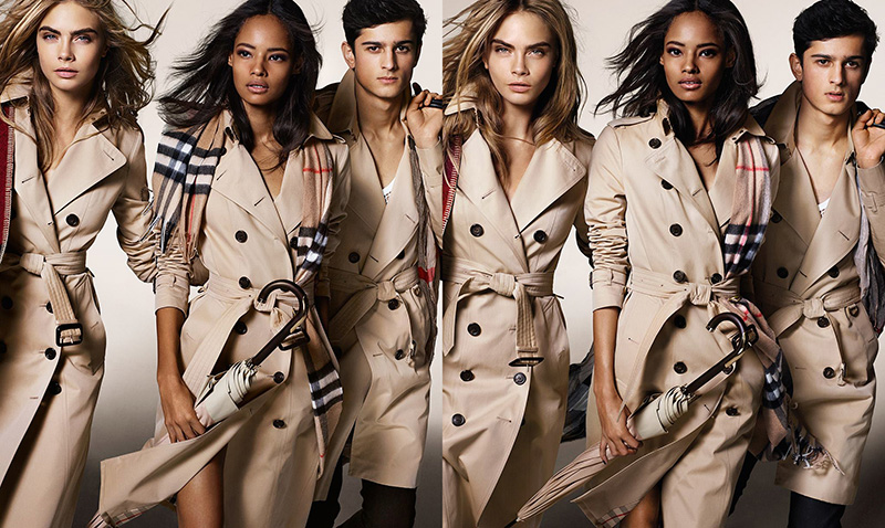 First look at  Burberry' s Fall/Winter 2014 campaign, featuring Cara Delevingne, Callum Ball, Malaika Firth, Oli Green, Tarun Nijjer and Suki Waterhouse photographed by  Mario Testino.