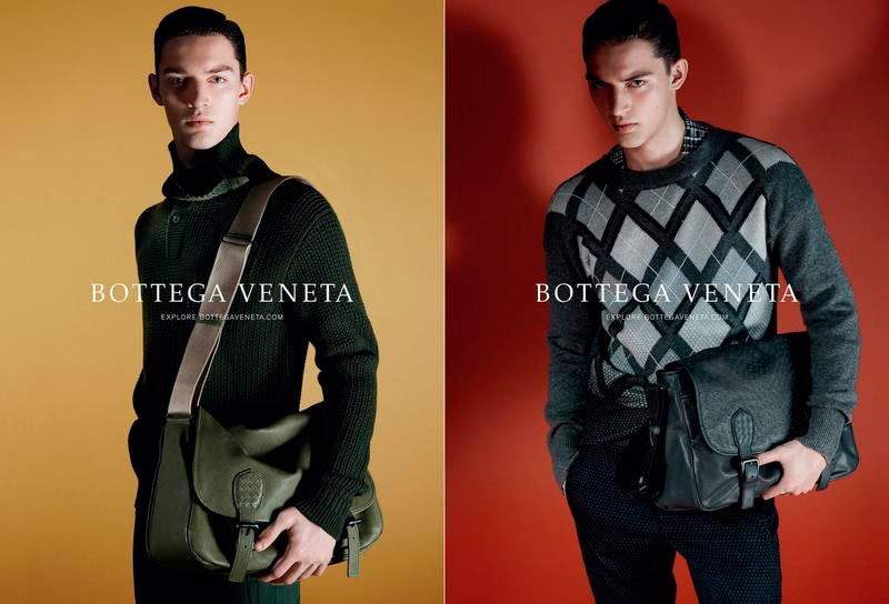 Otto Lotz fronts the Fall/Winter 2014 campaign of   Bottega Veneta  , lensed by   David Sims  .
