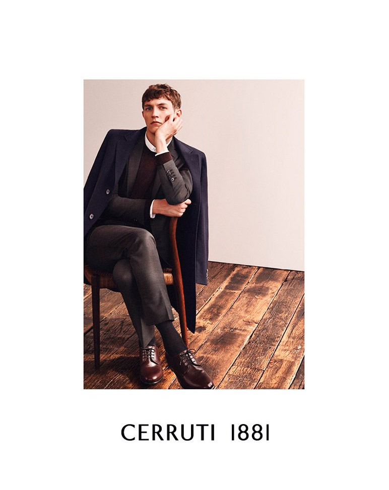 Rutger Schoone fronts the Fall/Winter 2014 campaign of Cerruti 1881, photographed by Johan Sandberg.