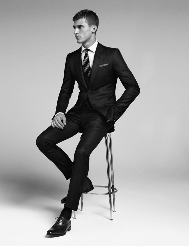 Clément Chabernaud stars in Gucci  Men's Tailoring  Fall/Winter 2014 lookbook.
