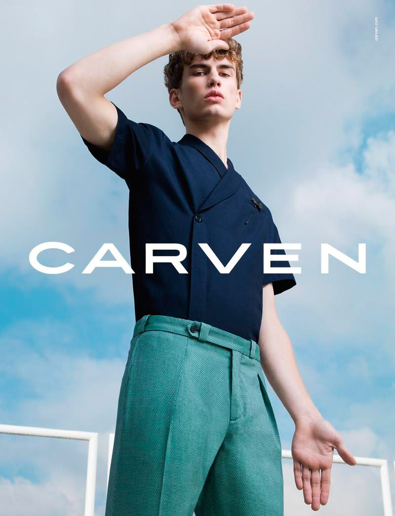 Sam Heijblom fronts the Spring/Summer 2016 campaign of Carven, photographed by Pierre Debusschere and styled by Tom Van Dorpe. Creative Director: David Vivirido Art Director: Francesco Sourigues Hair: Vi Sapyyapy
