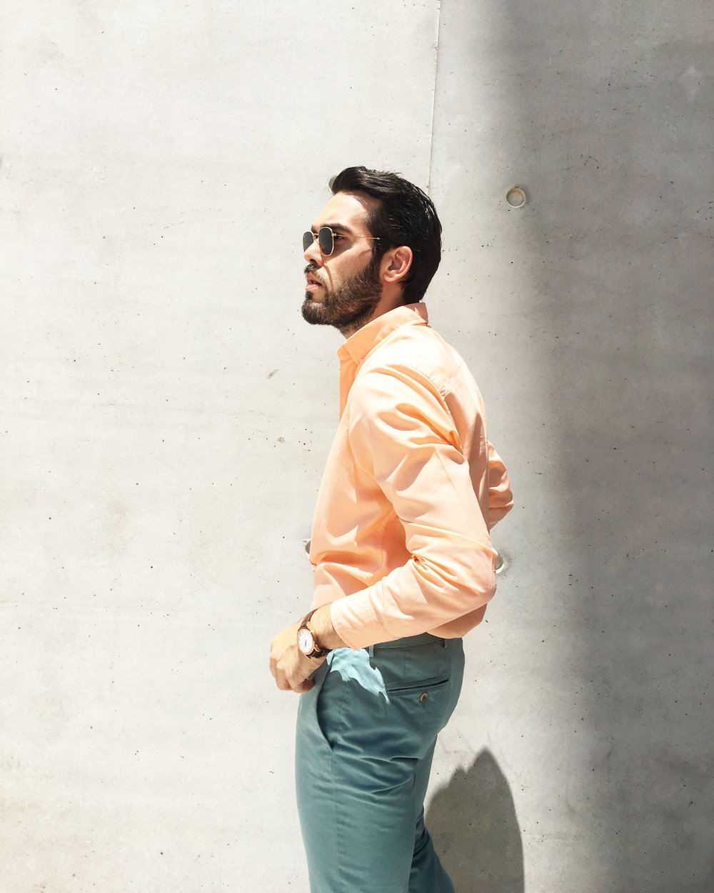 Total outfit: Hackett London / Watch: Corniche