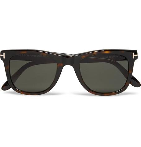 TOM FORD D-Frame Tortoiseshell Acetate Polarised Sunglasses