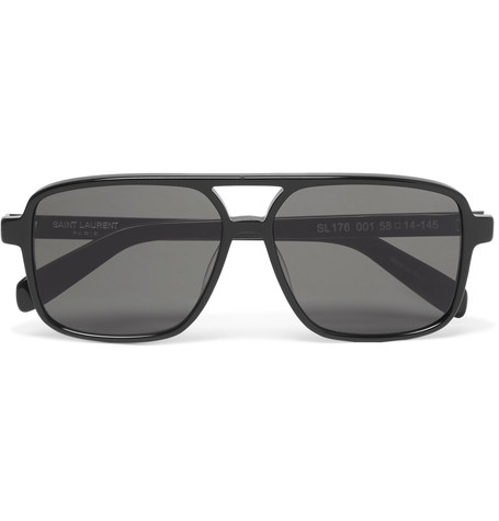 SAINT LAURENT Aviator-Style Acetate Sunglasses