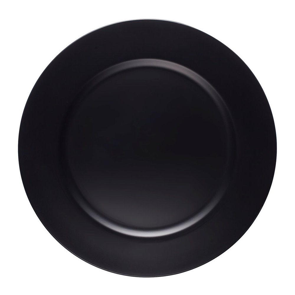 "13"" Diameter Chalkboard Charger"
