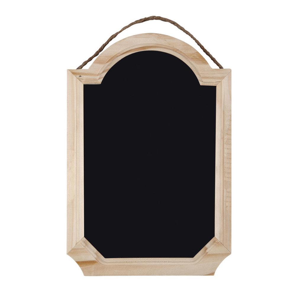 """12"""" x 8.1"""" x 0.4""""Chalkboard with Pine Frame"""