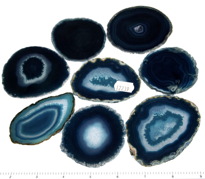"2.5""-3.5"" 8 Piece Agate Slices"