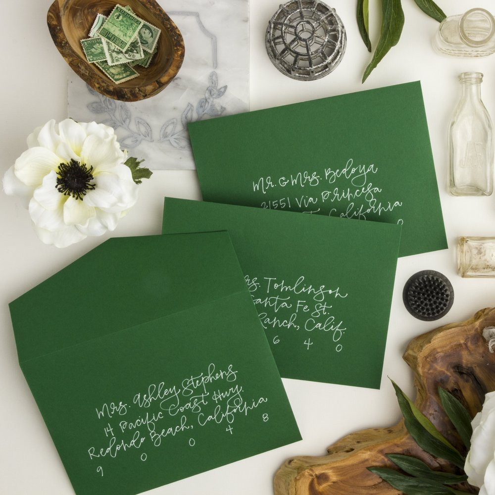 SIMPLE LINE CALLIGRAPHY ENVELOPES: $2.00/EA