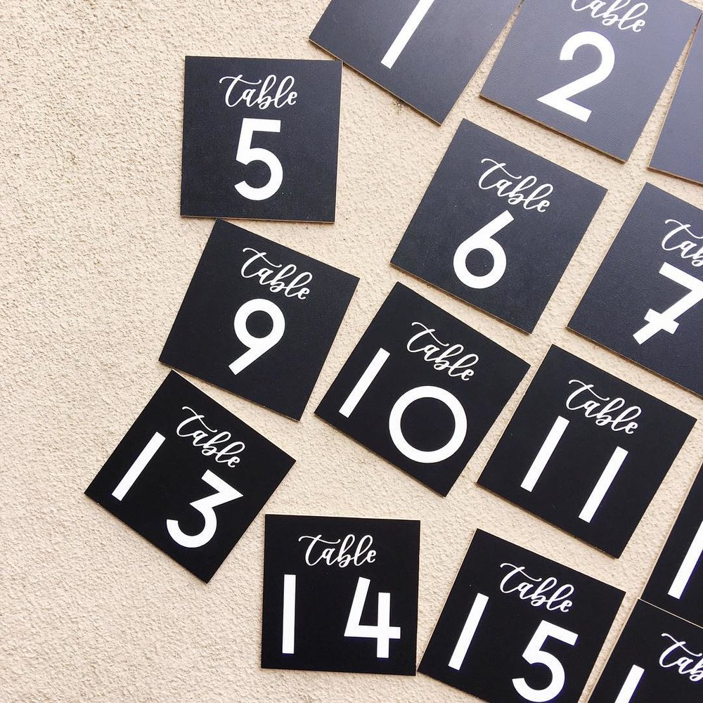 TABLE NUMBERS: STARTING AT $1.50/EA