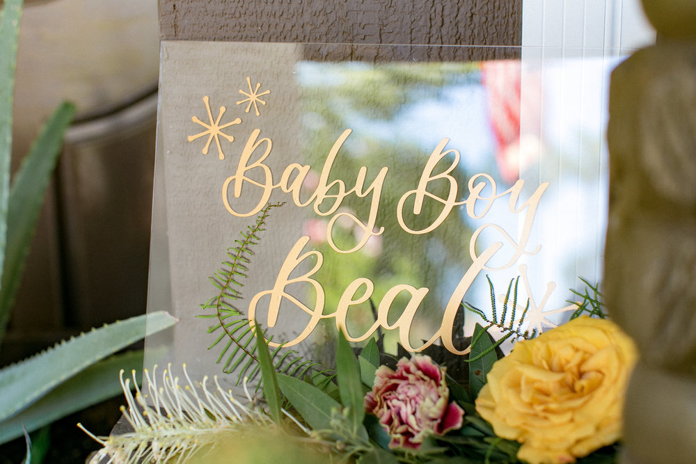 Celebrating Baby With Tropical Prints and a Love of Mid-Century Details