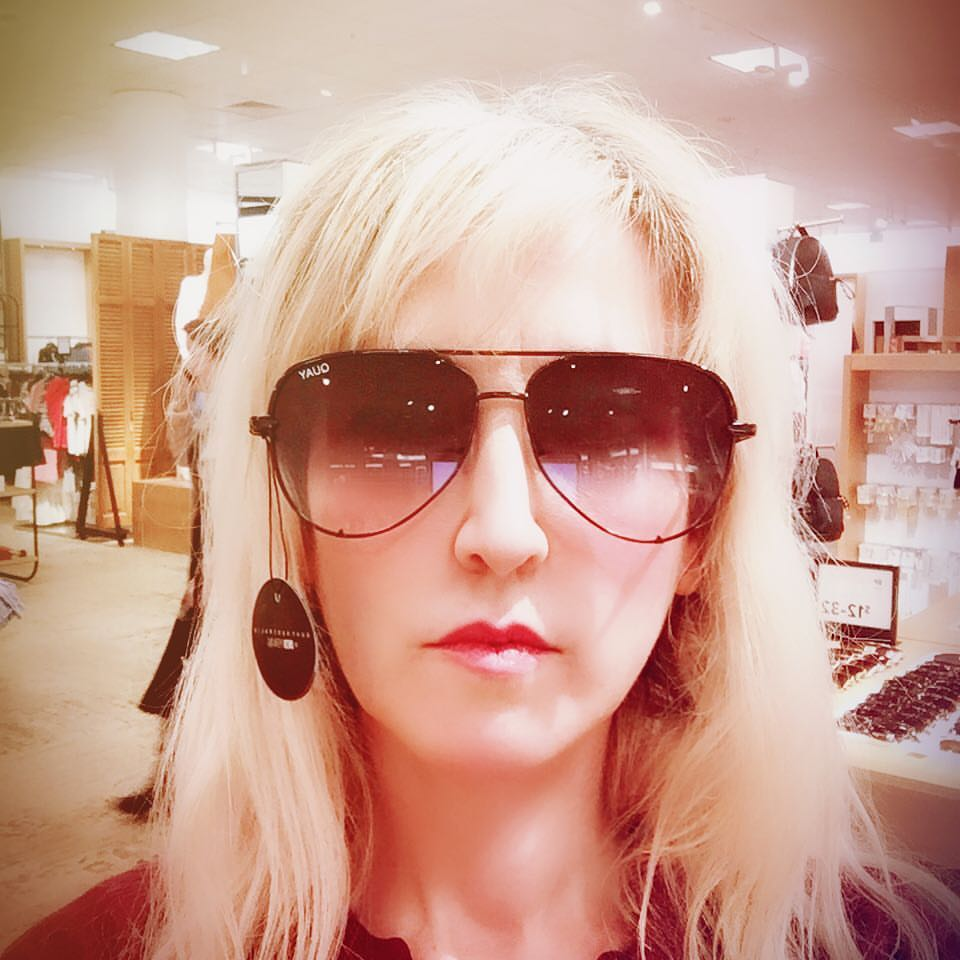 I was looking at the $12 sunglasses and then found these badass shades and was super excited until I realized I'd wandered over to the $65 section. 😒