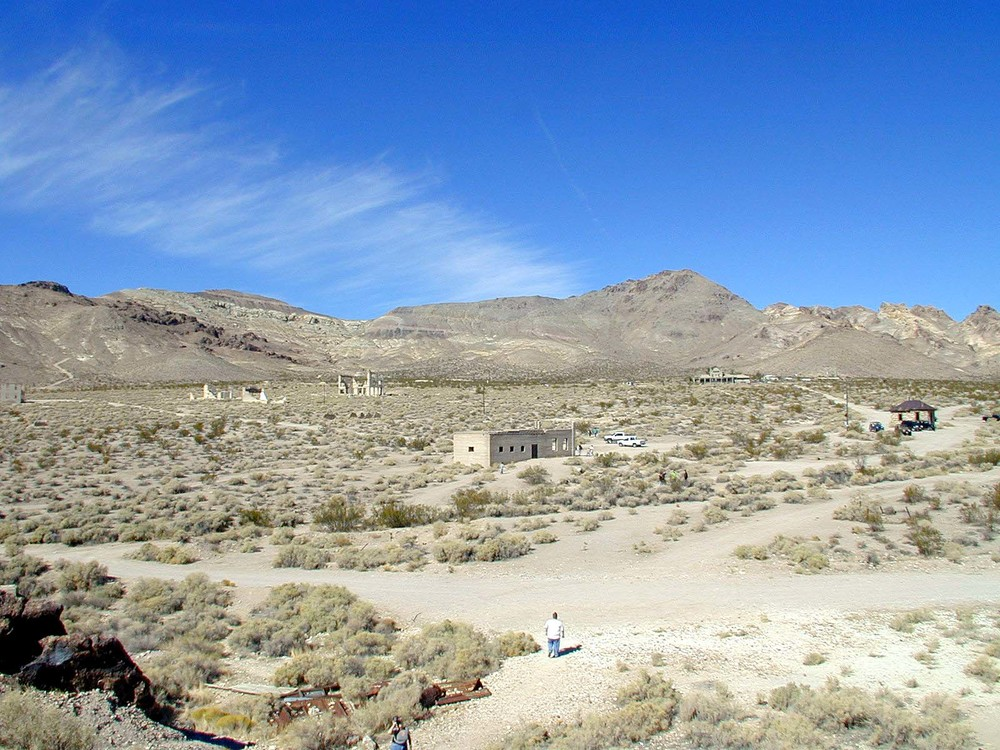 The ghost town of Rhyolite Nevada.