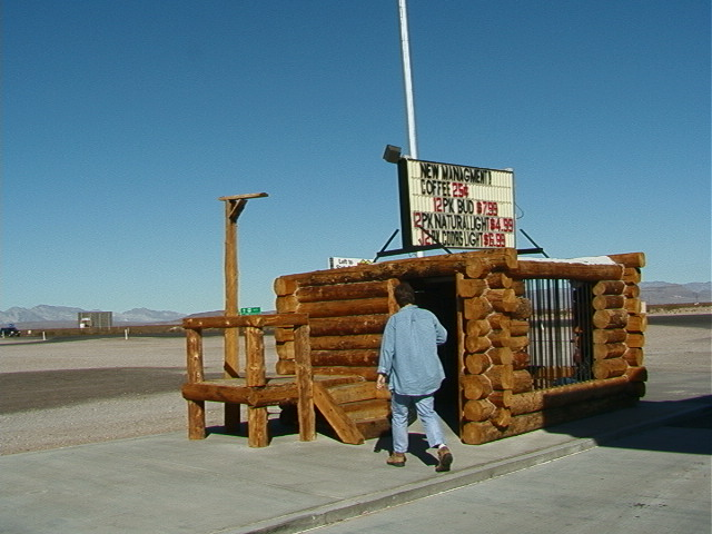 Jail made out of giant Lincoln Logs