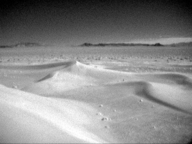 Infrared photo of the dunes