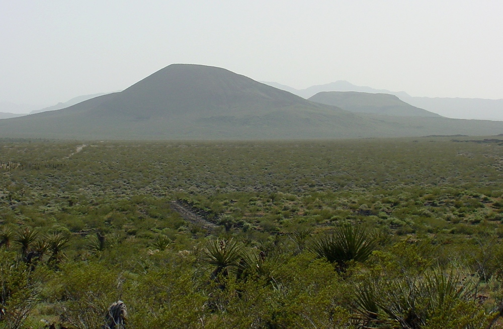 Cinder cones rise above the Mojave National Preserve