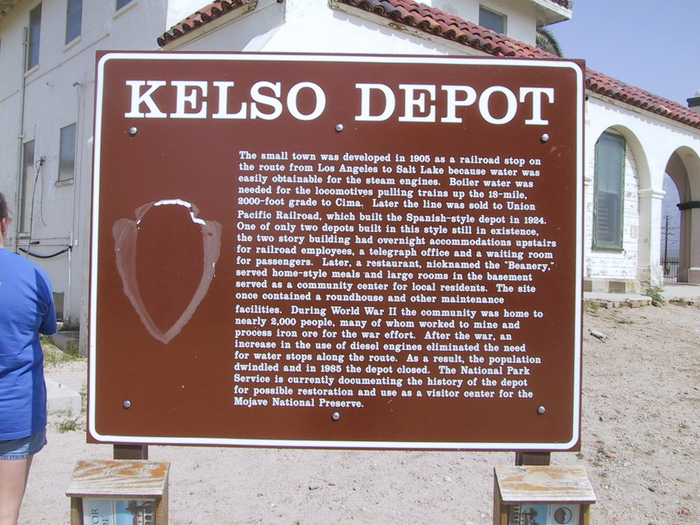 Sign at the Kelso Depot