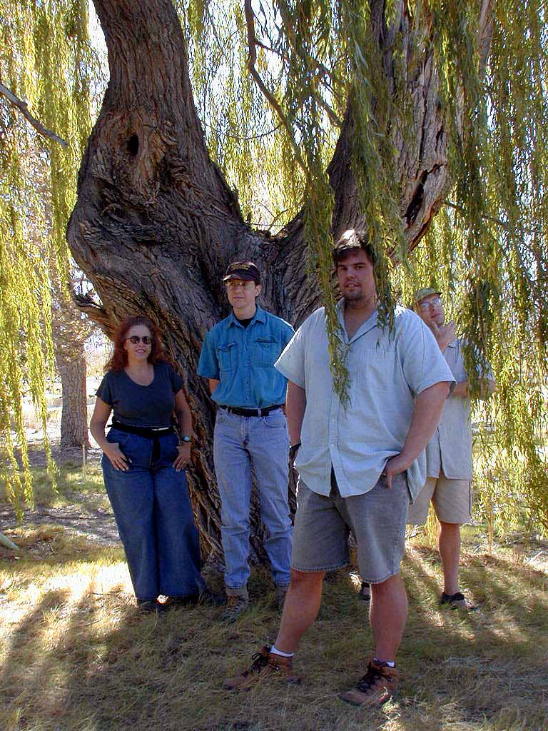 Maria, Joe, Mike, and Kendal at Corn Creek Field Station