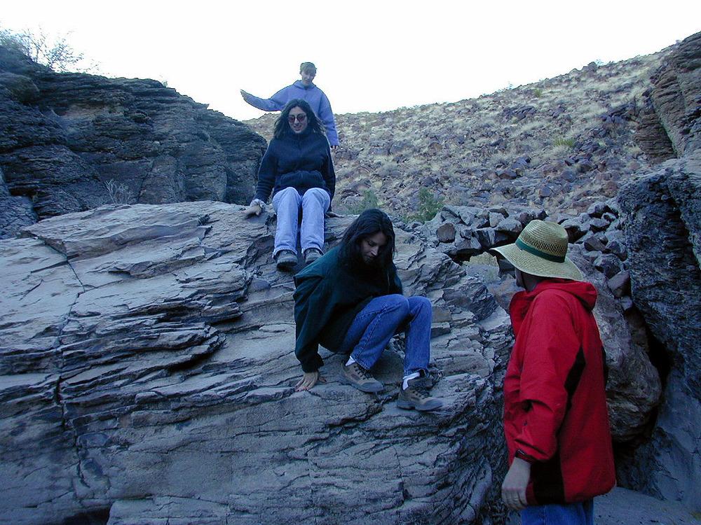 It was a bit easier descending down the mini-cliffs we had ascended earlier.