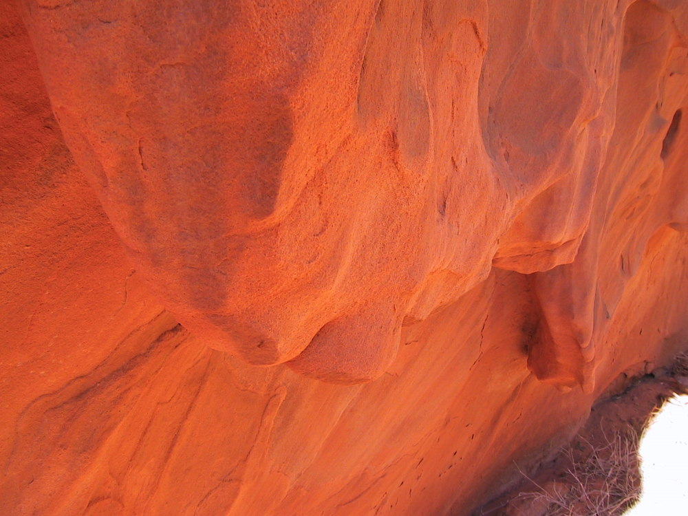 The rocks were mostly made of sandstone