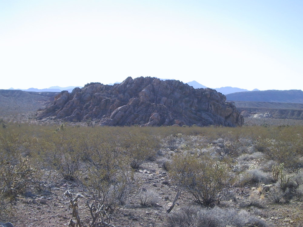 Sandstone outcroppings like this were common here