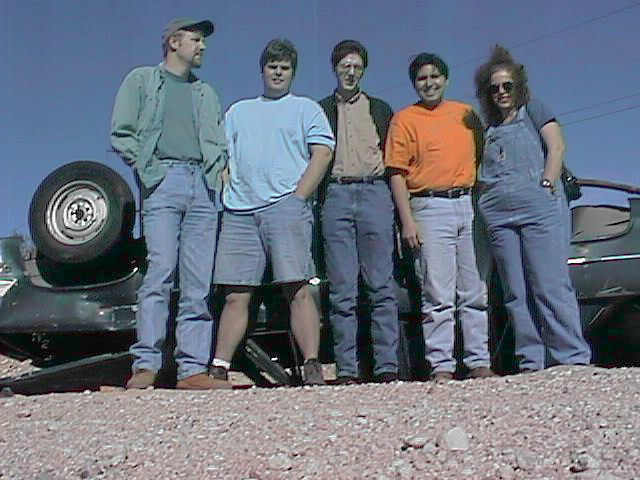 The final group (from left to right): Ted Morris, Mike Legg, Joe Bostic, Dwight Okahara, Maria Legg