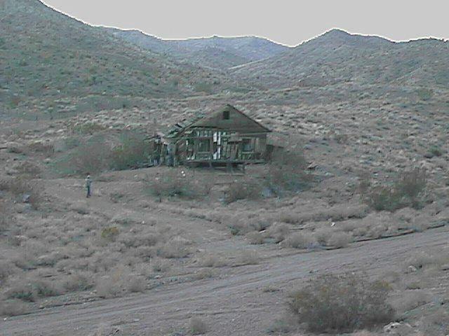 Abandoned mining shack.