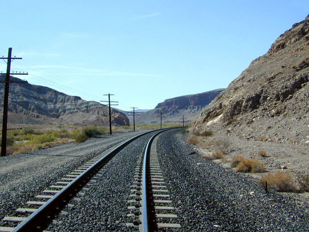 The Afton road paralleled railroad tracks.