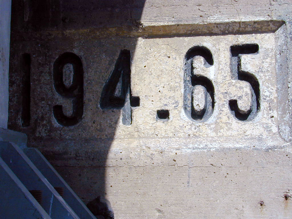 This number was on the railroad bridge right by spooky canyon