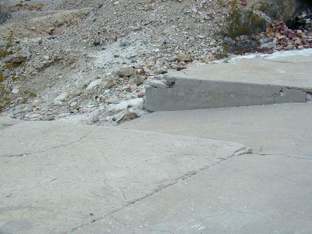 "Concrete ""ramps"" for some unknown purpose"