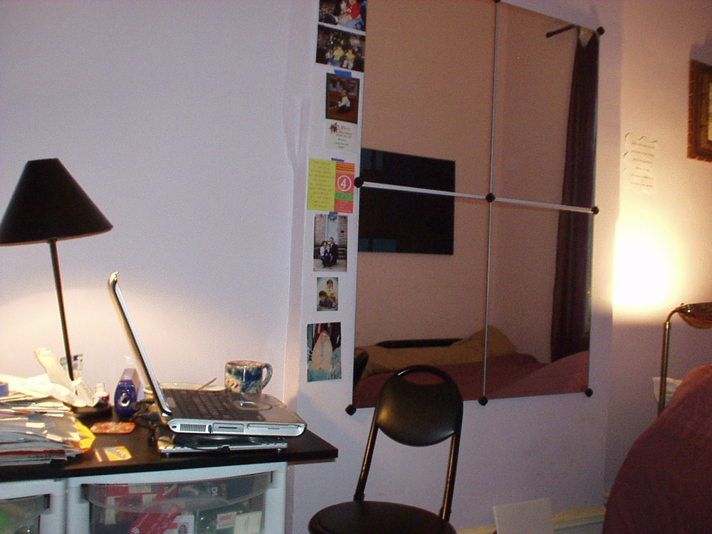 My first makeshift desk in Queens, circa 2004