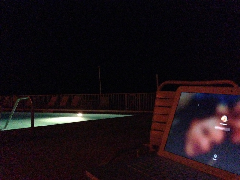 Pool Deck in October evening
