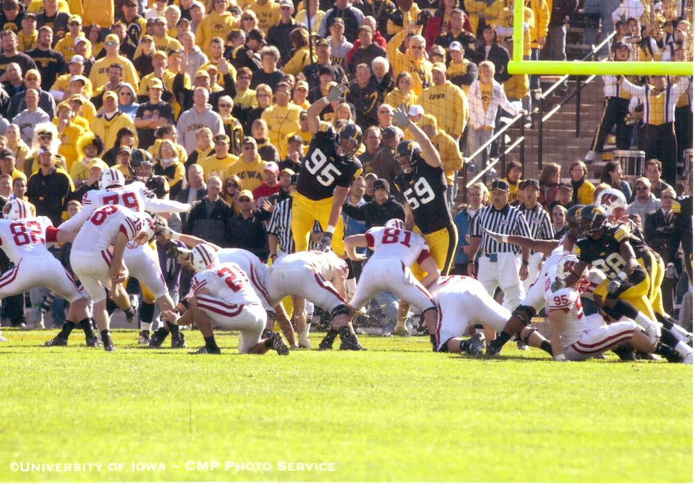 Playing against the Wisconsin Badgers