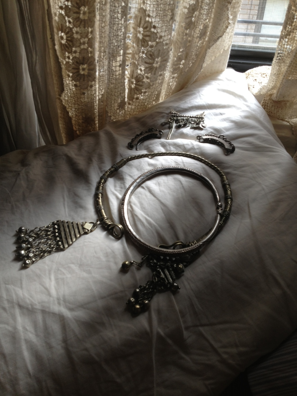 My everyday jewelry- Tuareg and Banjara.
