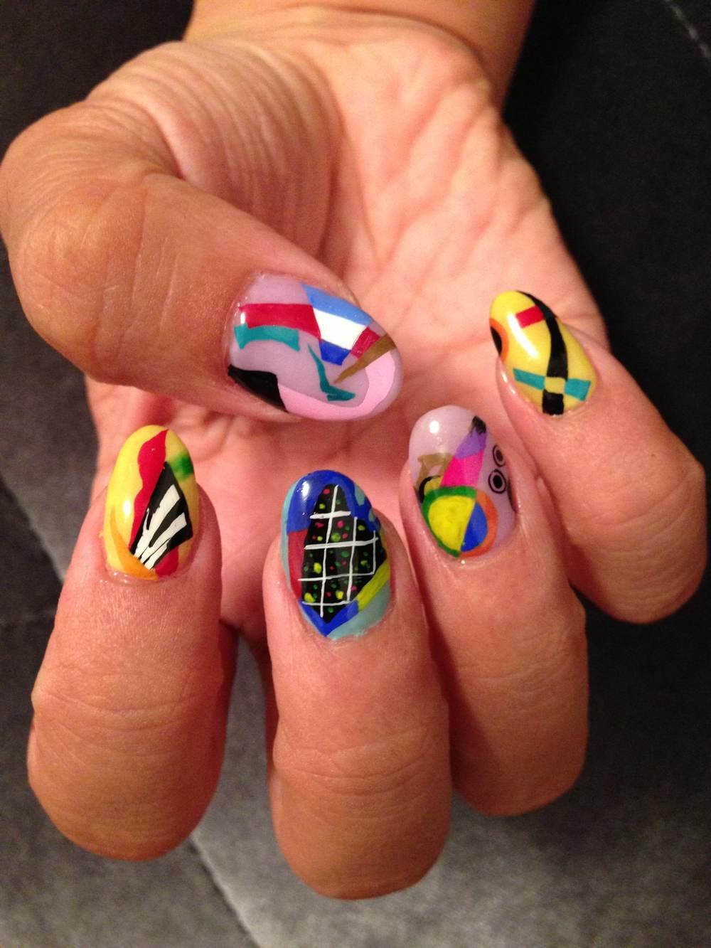 Kandinsky nail art by Naomi Yasuda