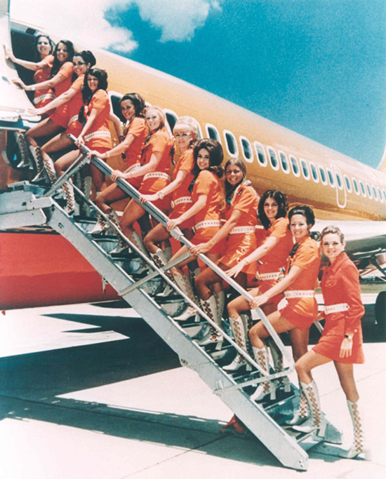 Southwest Airline's flight attendants in the early 1970s